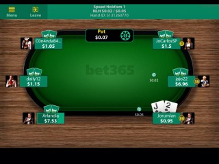 Bet365 Poker Mobile Client