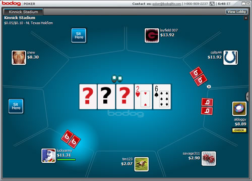 Bodog Poker Invisible Flops