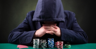 Poker Player in Hoodie