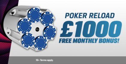 Coral Poker Reload Bonus