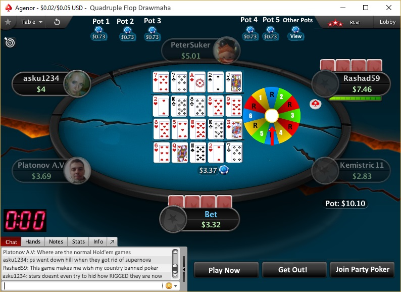 Rules of PokerStars new poker game - Quardruple Flop Drawmaha