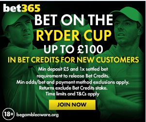 Betting the 2018 Ryder Cup at Bet365