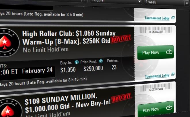 PokerStars Boycott Lobby