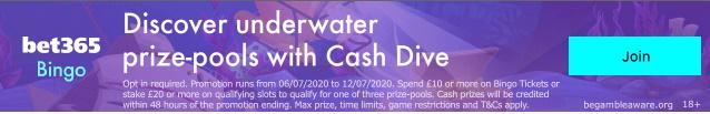 Bet365 Bingo Cash Dive
