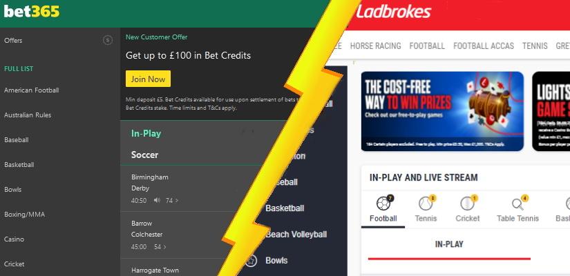 Bet365 Sportsbook vs Ladbrokes Sportsbook