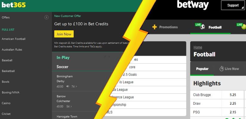 Bet365 vs Betway Sportsbook