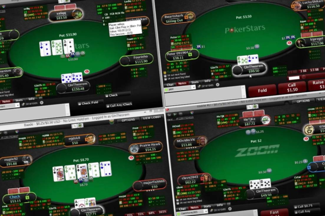 Playing Different Poker Tables Simultaneously
